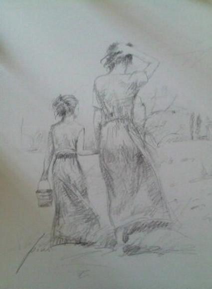 e6db6dc36911 Original Sketches - Pino Artist