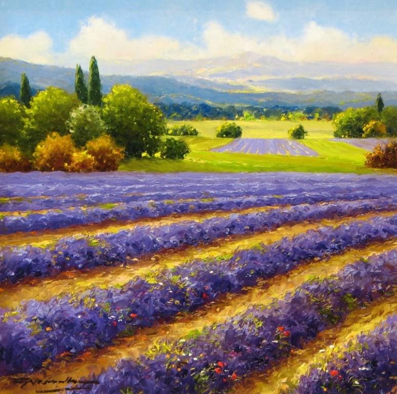 130- G Nesvadba - 16 x 16 Visions of Lavender 1530