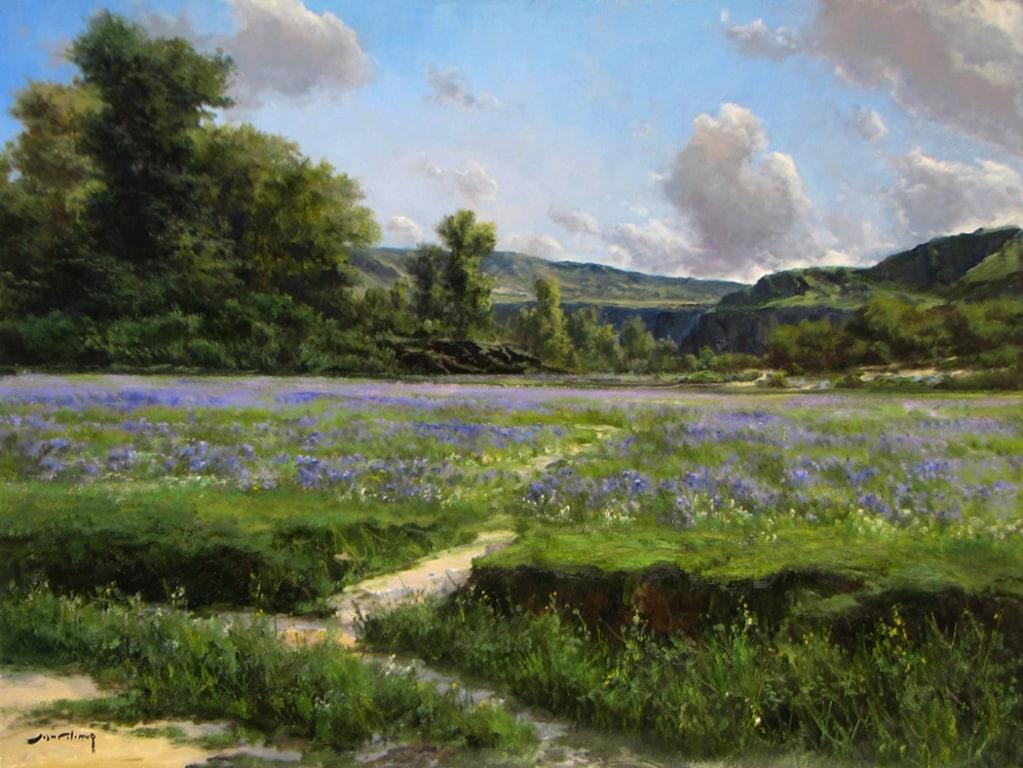 404- Lavender Field 30 x 40