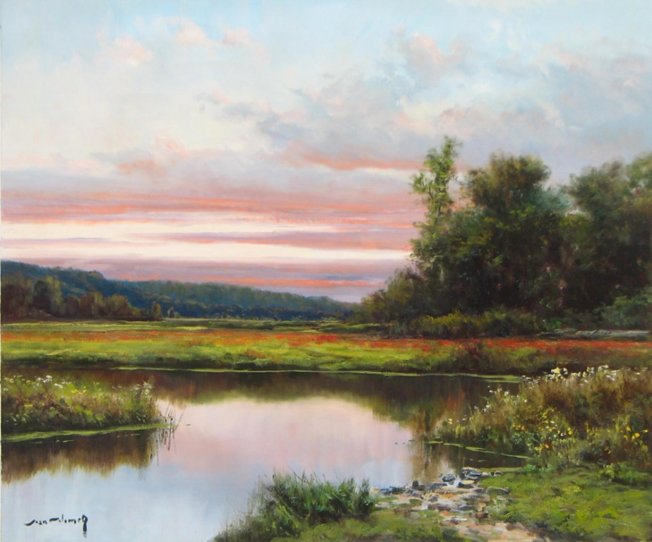 416- Andalusian Marsh 20 x 24