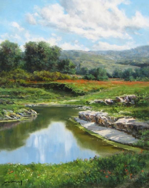 418- Picnic Pond 30 x 24