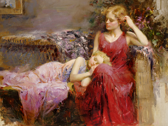 A Mothers Love by Artist Pino Daeni Artwork