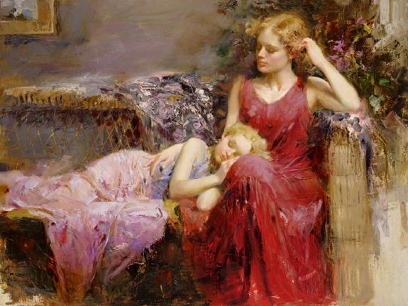 A Mothers Love by Artist Pino Daeni Artwork