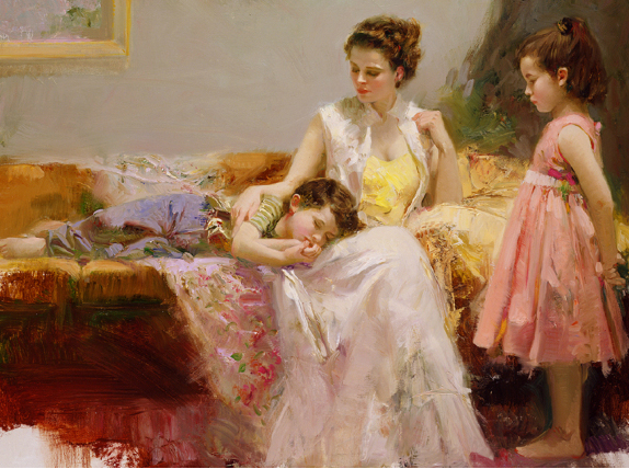 A Soft Place in My Heart by Artist Pino Daeni Artwork