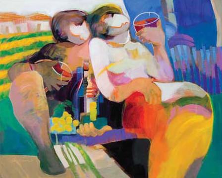 Afternoon Amore by Hessam Abrishami 24 x 30
