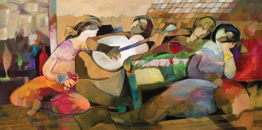 Afternoon Memory by Hessam Abrishami 30 x 60
