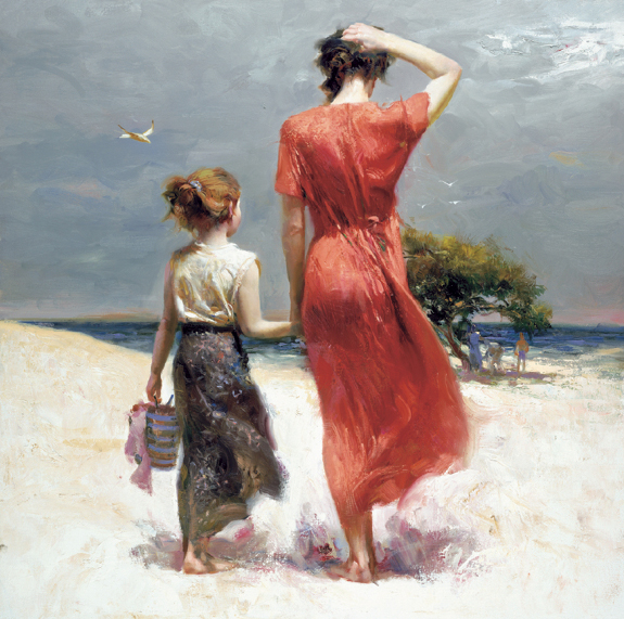 Afternoon Stroll by Artist Pino Daeni Artwork
