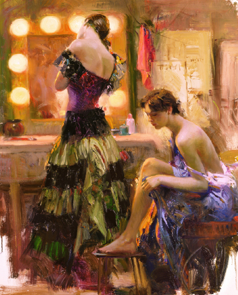 Almost Ready by Artist Pino Daeni Artwork