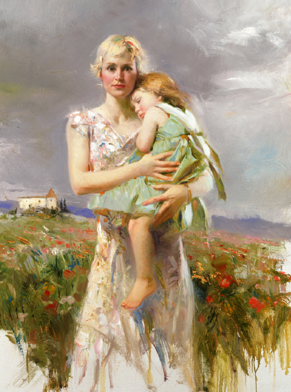 Angel from Above by Artist Pino Daeni Artwork