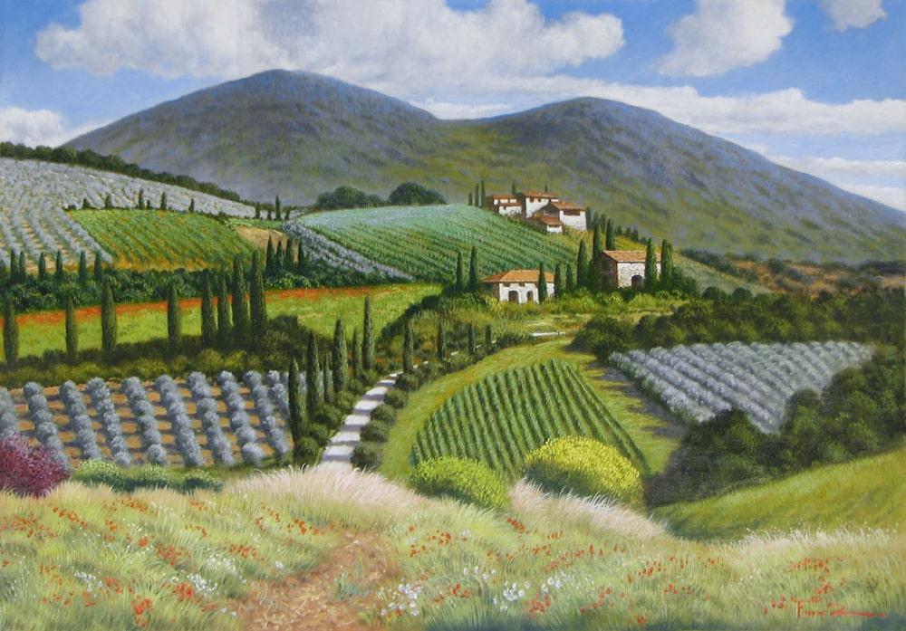 Artist Raffaele Fiore 27 X 39 Touch of Italy