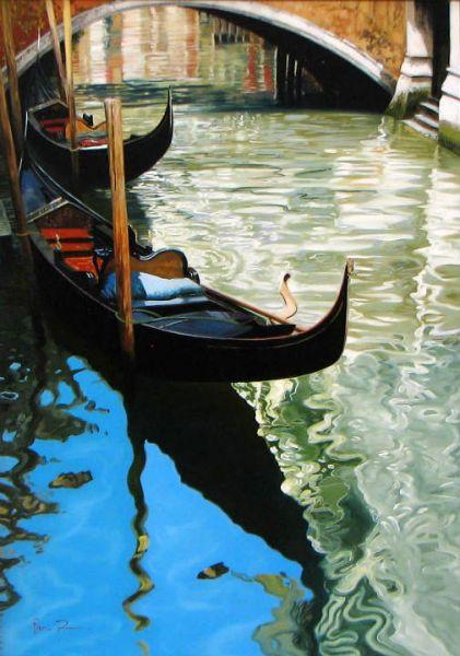 Artist Raffaele Fiore 28 x 22 - Fiore - Venice Canal - Sold