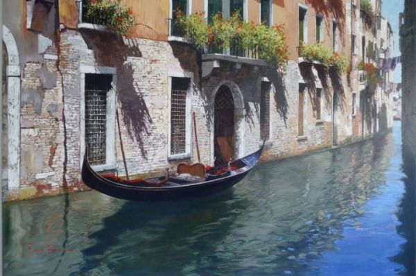 Artist Raffaele Fiore 28 x 39 Before a day on the Grand Canal sold