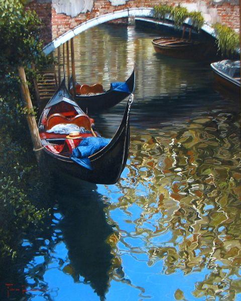 Artist Raffaele Fiore 31 x 23 The Gondola sold