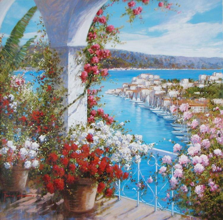 Artist Raffaele Fiore 31 x 31 Fiore - Colorful View - 2275