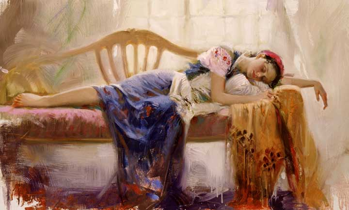 At Rest by Artist Pino Daeni Artwork