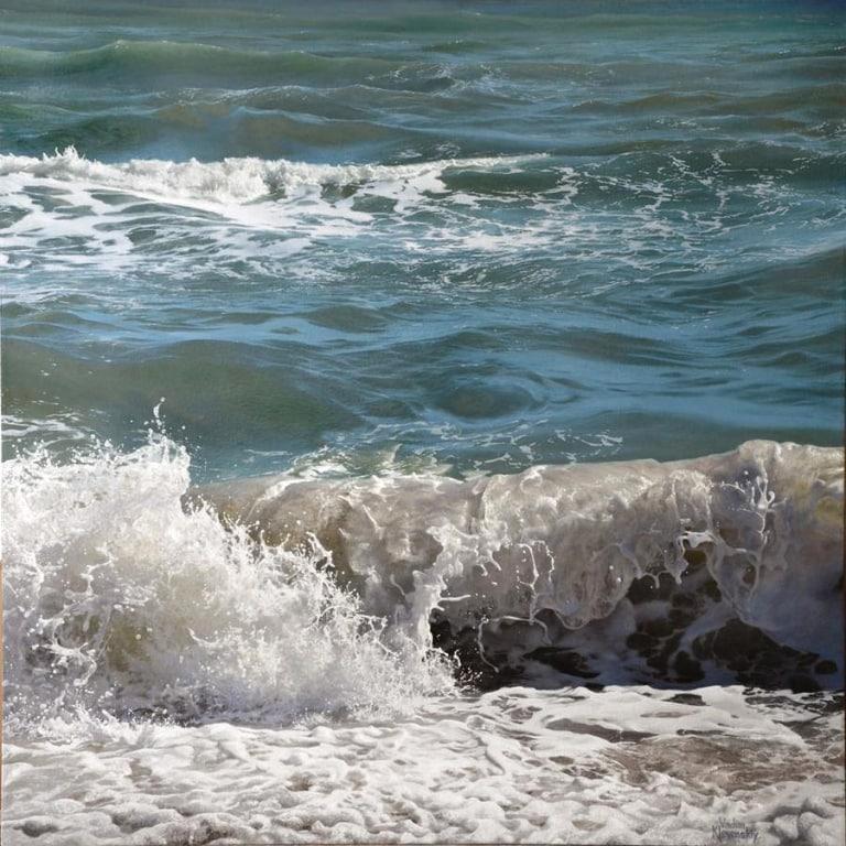 Breaking Waves by Artist Vadim Klevenskiy - Wave Painting