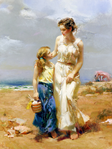 By the Sea by Artist Pino Daeni Artwork