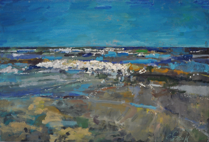 CHRISTOPHER STRUNK ARTIST Sunny Day Waves ORIGINAL OIL