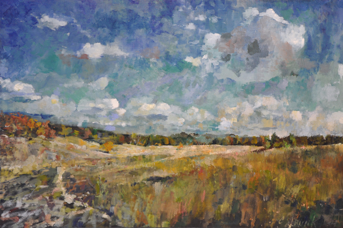 CHRISTOPHER STRUNK ARTIST View Accross The Long Walk ORIGINAL OIL