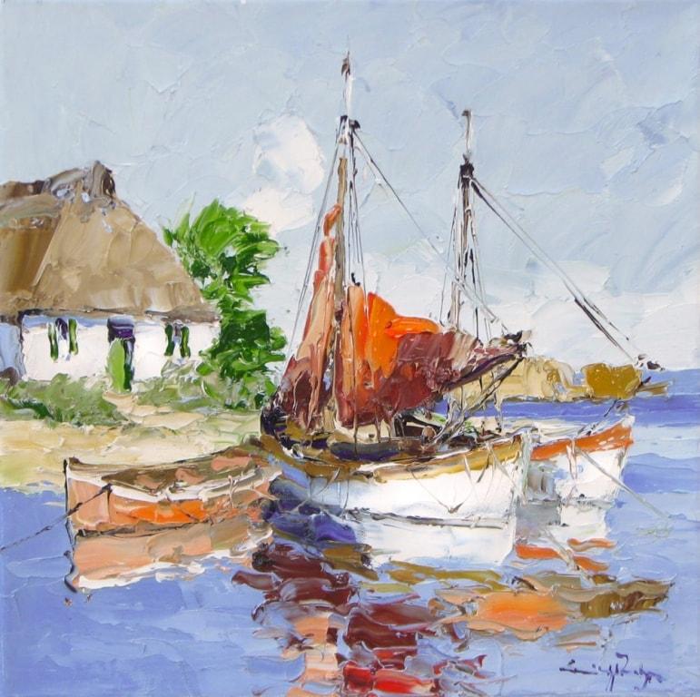 Coming Home -16 x 16 - Erich Paulsen Artist - Original Painting - Art Eric Paulsen
