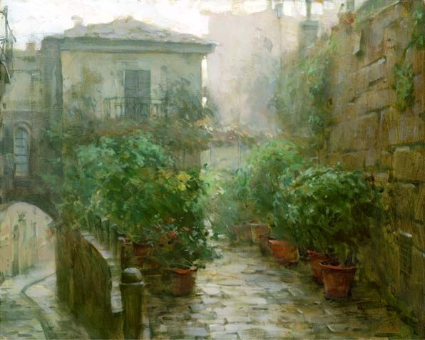 DMITRI DANISH ARTIST - Morning Mist by Dmitri Danish