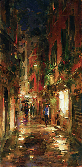 DMITRI DANISH ARTIST Street at Night
