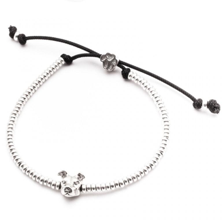 DOG FEVER - DOG HEAD BRACELETS - american staffordshire silver head bracelet