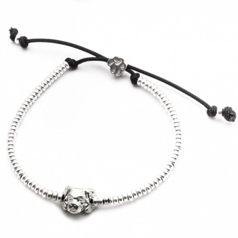 DOG FEVER - DOG HEAD BRACELETS - cavalier king silver head bracelet