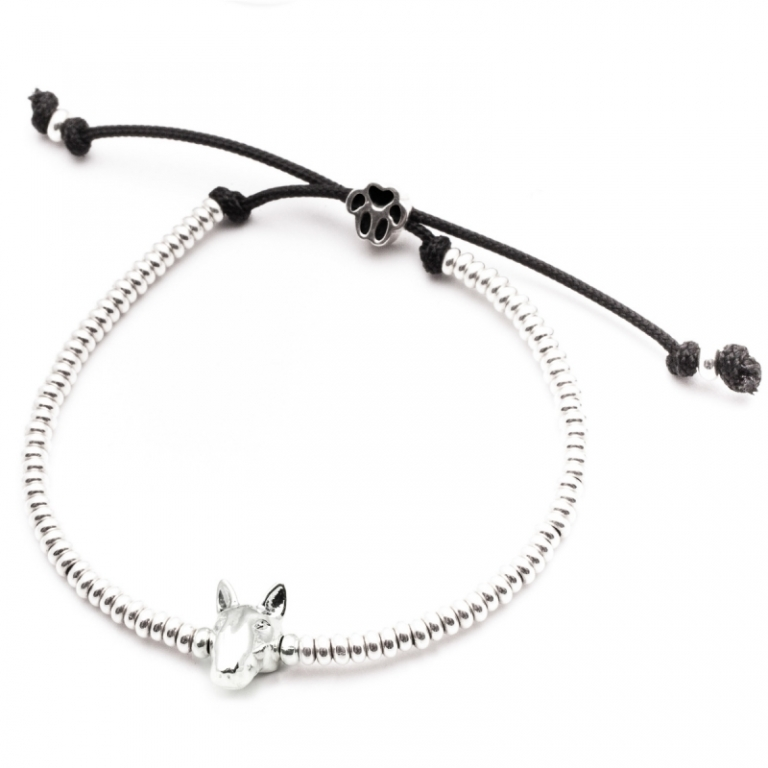 DOG FEVER - DOG HEAD BRACELETS - english bull terrier silver head bracelet