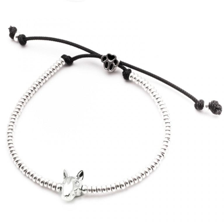 DOG FEVER - DOG HEAD BRACELETS - english bull terrier silver head bracelet