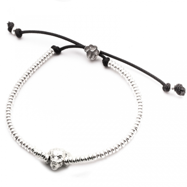 DOG FEVER - DOG HEAD BRACELETS - golden retriever silver head bracelet