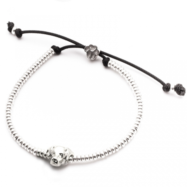 DOG FEVER - DOG HEAD BRACELETS - labrador retriever silver head bracelet
