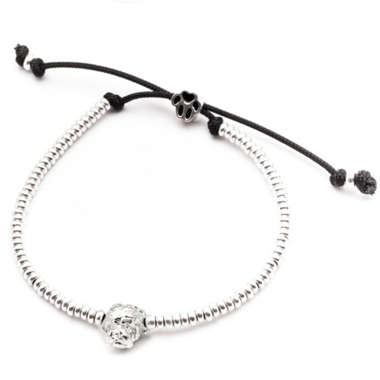 DOG FEVER - DOG HEAD BRACELETS - maltese silver head bracelet
