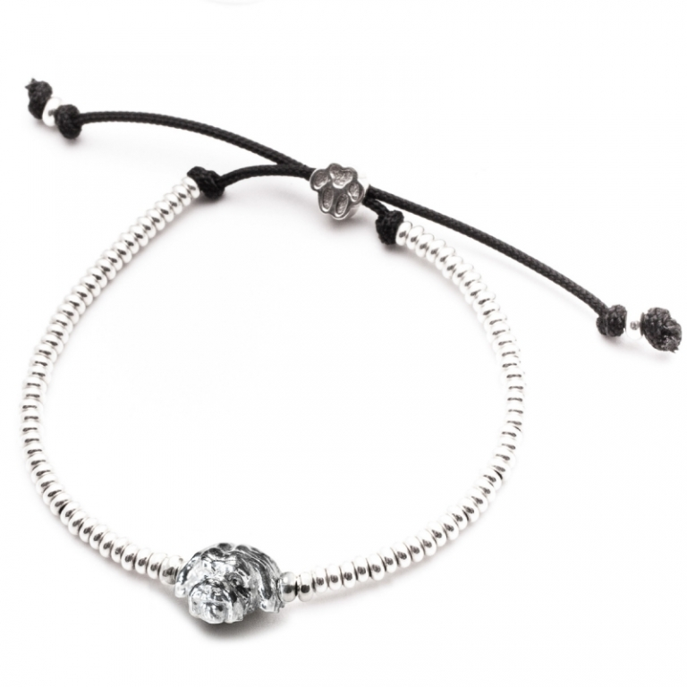 DOG FEVER - DOG HEAD BRACELETS - shitzu silver head bracelet