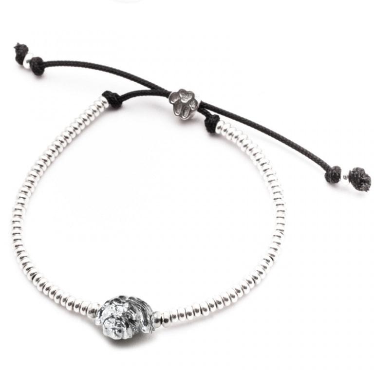 DOG FEVER - DOG HEAD BRACELETS - shitzu silver head bracelet
