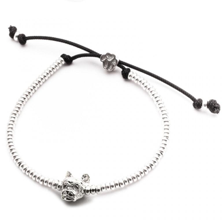 DOG FEVER - DOG HEAD BRACELETS - yorkshire silver head bracelet