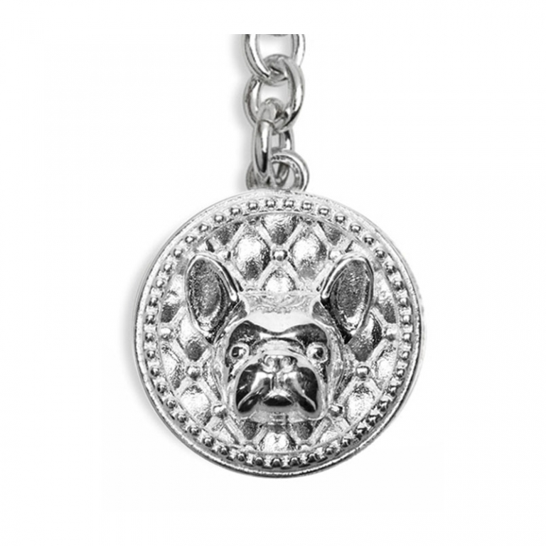 DOG FEVER - DOG KEY HOLDER - french bulldog keyring