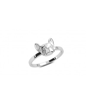 DOG FEVER - DOG RING - FINE RINGS - simple fine ring french bulldog fine ring
