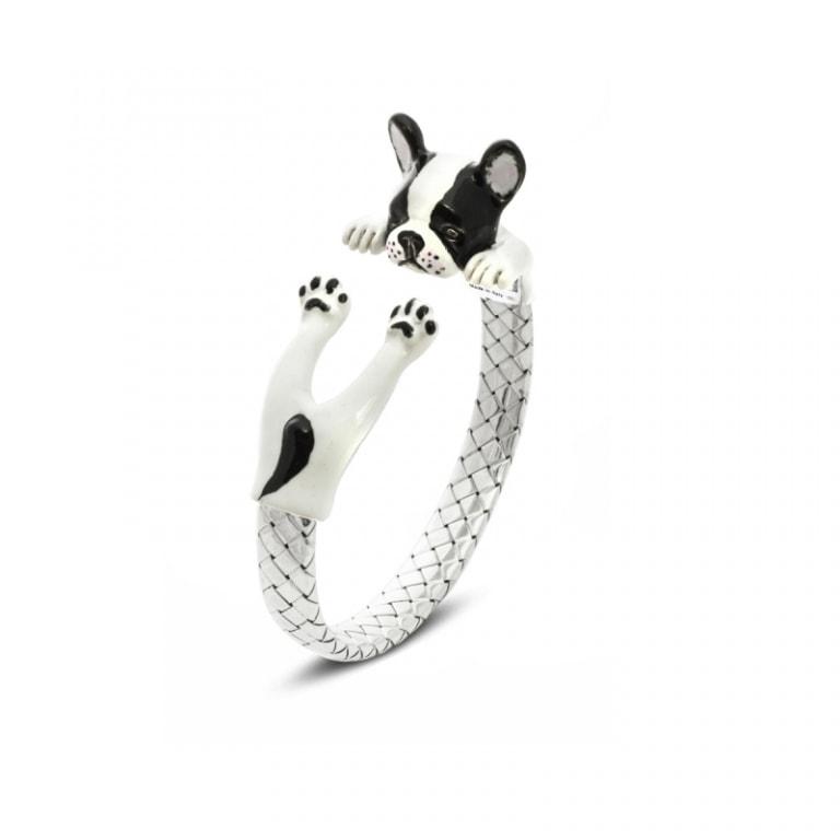 DOG FEVER - ENAMELED HUG BRACELETS - french bulldog enamelled hug bracelet