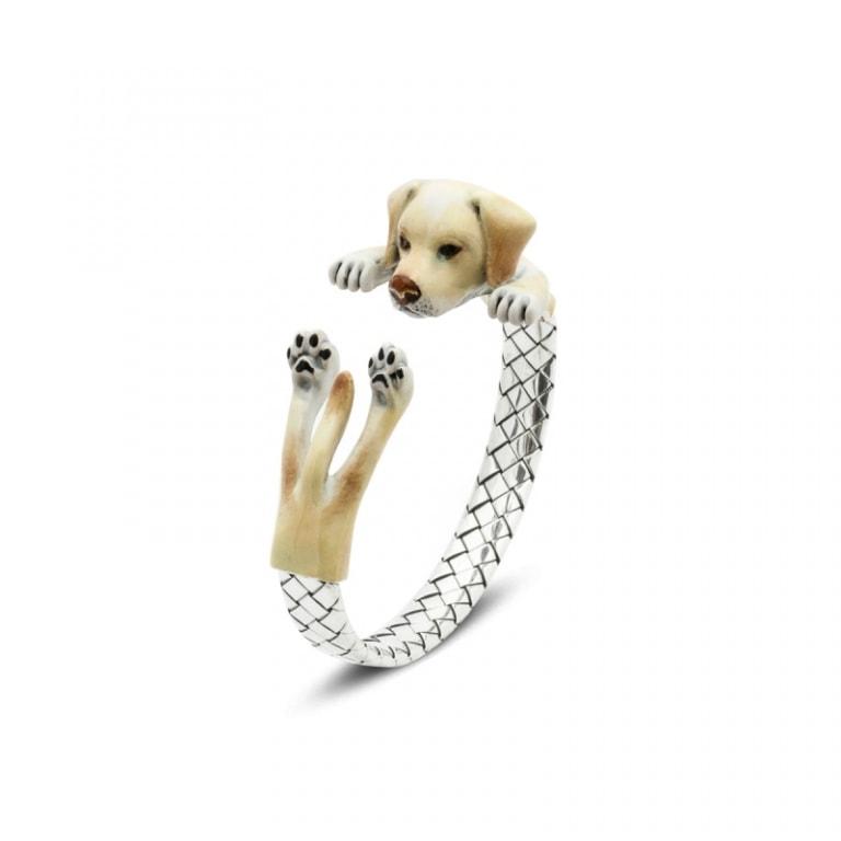 DOG FEVER - ENAMELED HUG BRACELETS - labrador enamelled hug bracelet