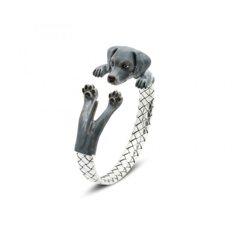 DOG FEVER - ENAMELED HUG BRACELETS - weimaraner enamelled hug bracelet