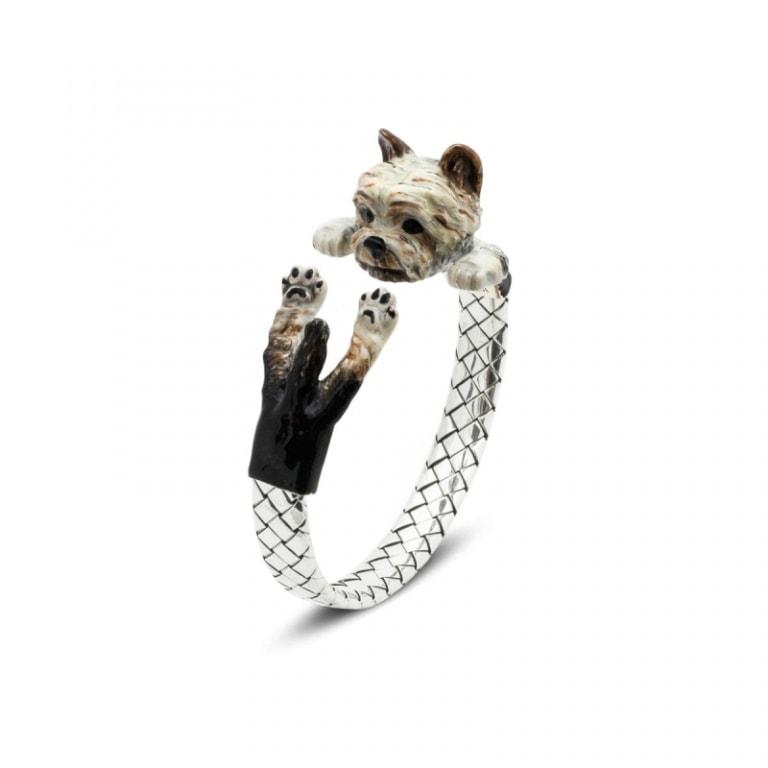 DOG FEVER - ENAMELED HUG BRACELETS - yorkshire enamelled hug bracelet