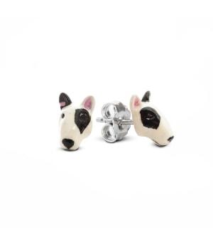 DOG FEVER - ENAMELLED DOG EARRINGS - bull terrier enameled earrings