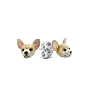 DOG FEVER - ENAMELLED DOG EARRINGS - chihuaua enameled earrings