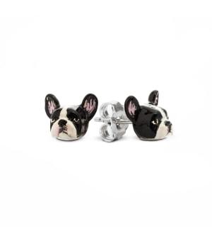 DOG FEVER - ENAMELLED DOG EARRINGS - french bulldog enameled earrings
