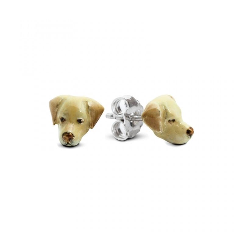 DOG FEVER - ENAMELLED DOG EARRINGS - labrador enameled earrings
