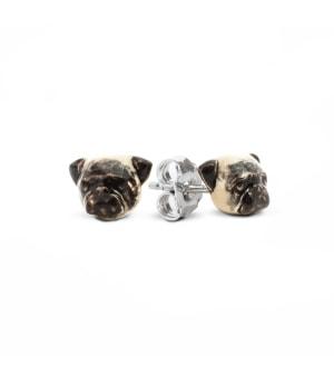 DOG FEVER - ENAMELLED DOG EARRINGS - pug enameled earrings