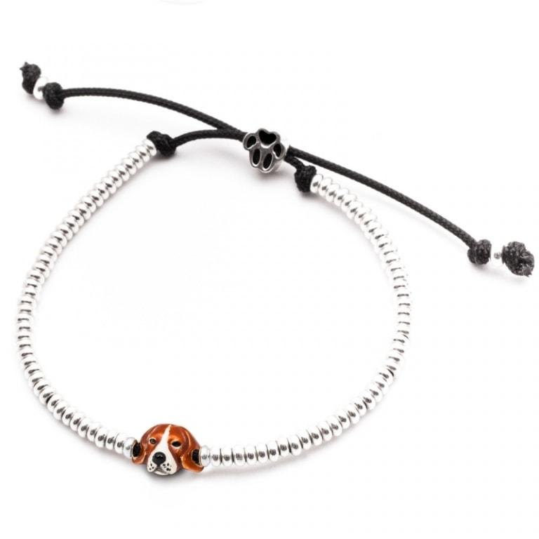 DOG FEVER - ENAMELLED DOG HEAD BRACELETS - enameled head bracelets beagle
