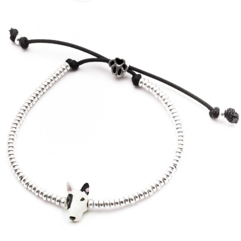 DOG FEVER - ENAMELLED DOG HEAD BRACELETS - enameled head bracelets bull terrier