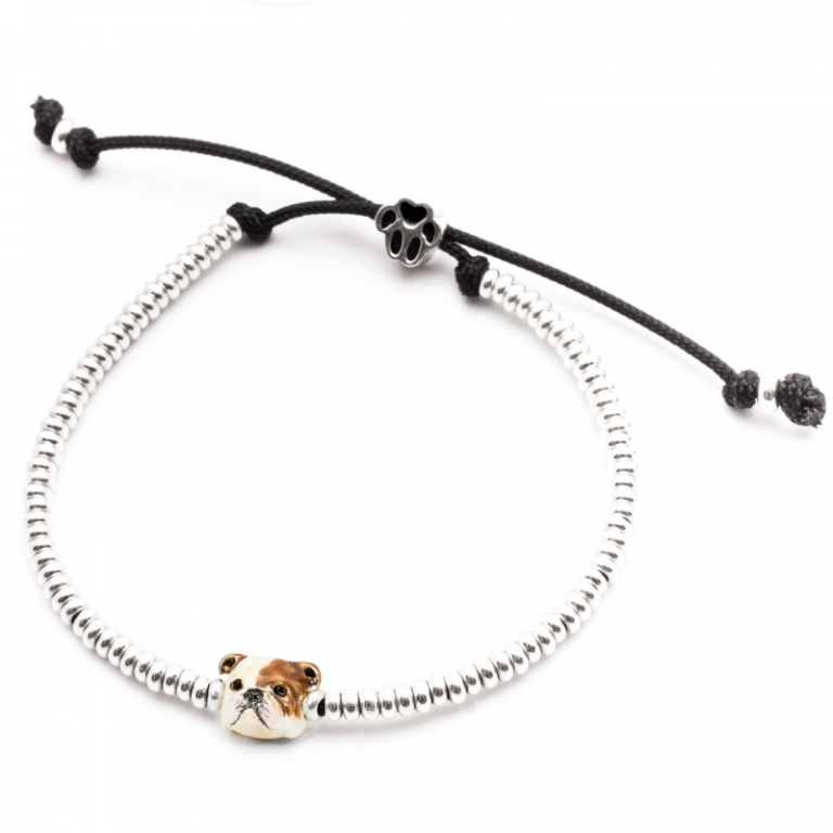 DOG FEVER - ENAMELLED DOG HEAD BRACELETS - enameled head bracelets english bulldog